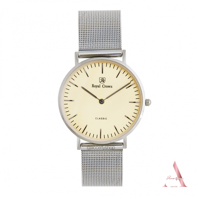 Royal Crown watch 7601L 7601M Stanless Silver